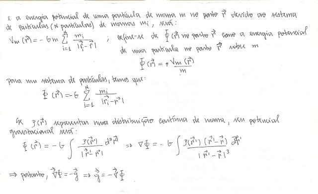 força, campo e energia potencial (gravitação)