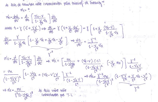 leis de newton são variantes pela transformação de lorentz