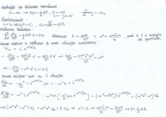 Oscilador Harmônico Quântico - Solução assintótica
